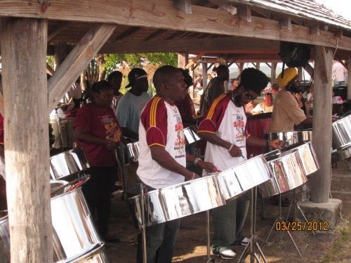 Some schools in Antigua, such as Holy Trinity on Barbuda have steel bands programs that are amazing.  Other schools have no music programs.