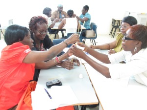 Principals of primary schools in Antigua work together to solve the